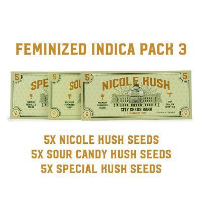 Feminized Indica Pack 3